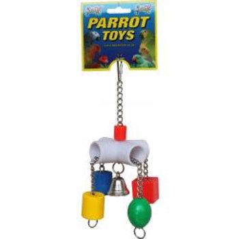 Lazy Bones Sliders Parrot Toy