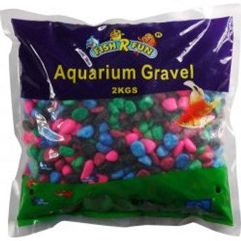 Fish 'R' Fun Coated Aquarium Gravel Rainbow