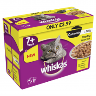 Whiskas 7+ Casserole Poultry PM £3.99 12 Pack