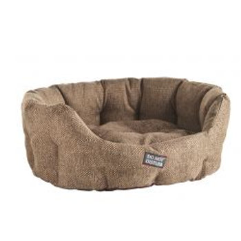 Do Not Disturb Oval Bed Brown