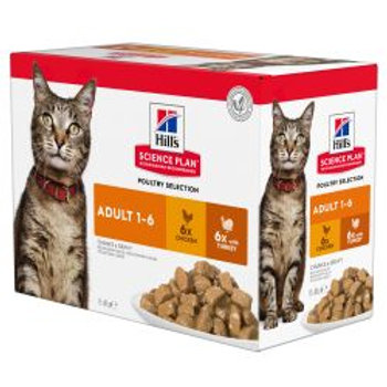 Hills Science Plan Feline Adult Poultry Multipack