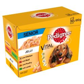 Pedigree Pouch in Jelly Senior 12 Pack