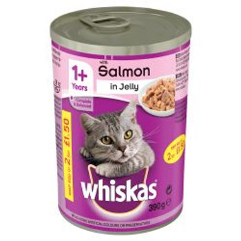 Whiskas Salmon Chunks in Jelly PM 80p