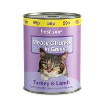 Best-one Cat Turkey & Lamb 59p