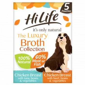 HiLife It's Only Natural - The Broth Collection 5 x 100g Multipack
