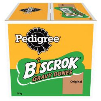 Pedigree Biscrok Gravy Bones Biscuits Dog Treats 10kg