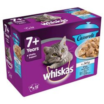 Whiskas Casserole  7+ Fish in Jelly 12 Pack