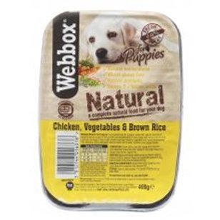 Webbox Natural Tray Puppy Chicken & Brown Rice