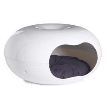 Do Not Disturb Cat Donut Bed With Cushion