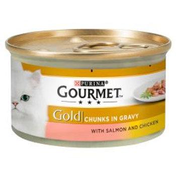 Gourmet Gold Salmon & Chicken in Chunks in Gravy