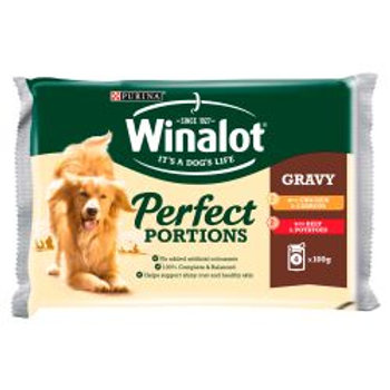 Winalot Perfet Portions Chicken & Beef in Gravy 4 Pack
