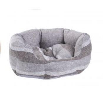 Do Not Disturb Pet Bed Grey Stripe