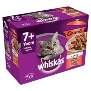 Whiskas Casserole in Jelly 7+ Fish & Meaty 12 Pack