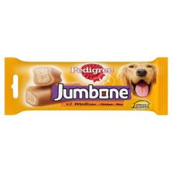 Pedigree Jumbone Medium Dog Treats with Chicken and Rice 2 Chews