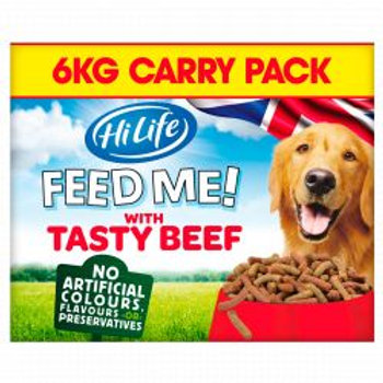 HiLife FEED ME! with Beef flavoured with Cheese & Veg 6kg