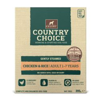 Gelert Country Choice Tray Chicken & Rice 10 Pack