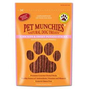Pet Munchies 100% Natural Chicken & Sweet Potato Dental Sticks