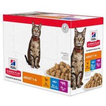 Hills Science Plan Feline Adult Original Multipack