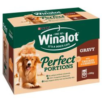 Winalot Perfect Portions Chicken in Gravy 12 pack
