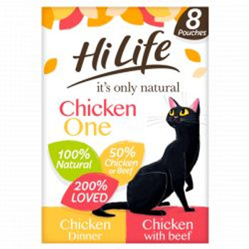HiLife It's Only Natural - The Chicken One In Jelly 8 x 70g Multipack