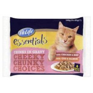 Essentials Cheeky Chunky Choices 4 x 85g Multipack