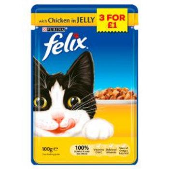 Felix Pouch Chicken in Jelly 3/£1