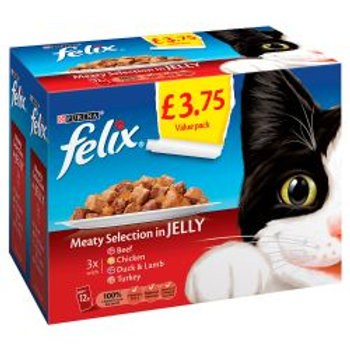 Felix Pouch Meaty Selection In Jelly 12 Pack PM £3.75