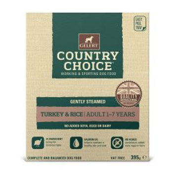 Gelert Country Choice Tray Turkey & Rice 10 Pack