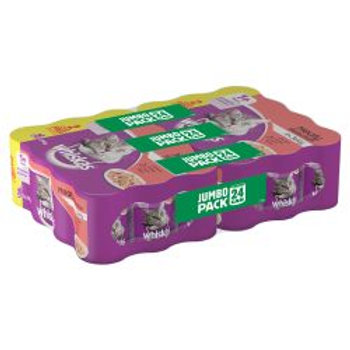 Whiskas 1+ Years Cat Tins Meat Selection in Jelly 24/20