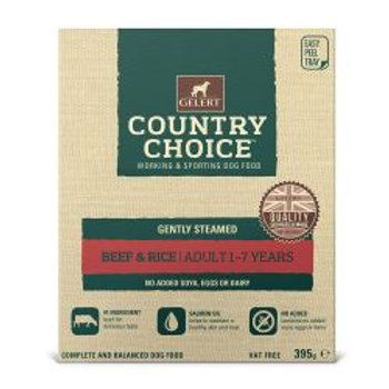 Gelert Country Choice Tray Beef & Rice 10 Pack