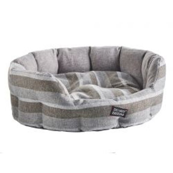Do Not Disturb Oval Bed Grey Stripe