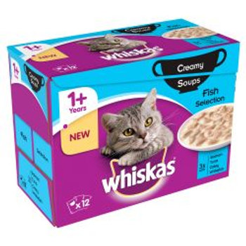 Whiskas 1+ Soup Fish 12 Pack