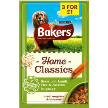 Bakers Pouch Home Classic Lamb 3/£1