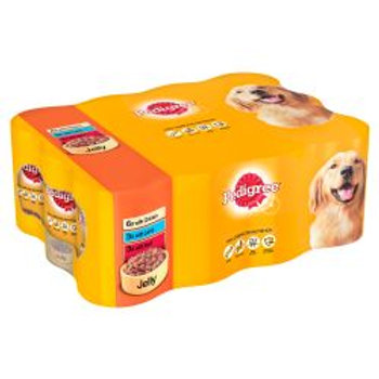 Pedigree Can Mixed Chunks in Jelly 12 Pack