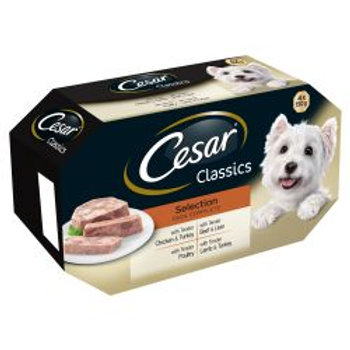 Cesar Tray Classics Selection 4 Pack