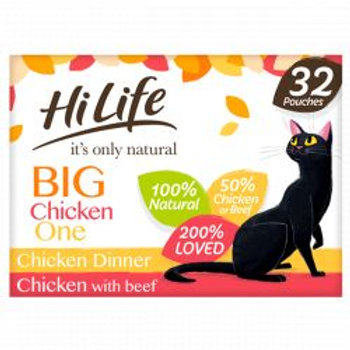 HiLife It's Only Natural - The Big Chicken One In Jelly 32 x 70g Multipack