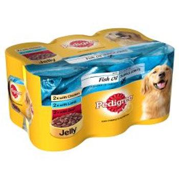 Pedigree Chunks In Jelly Fish Oil 6 Pack