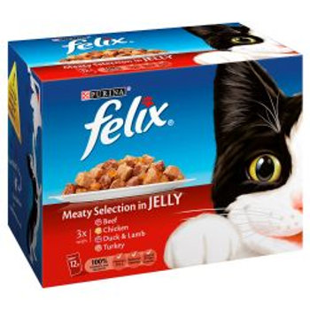 Felix Meaty Selection Chunks in Jelly 12 Pack
