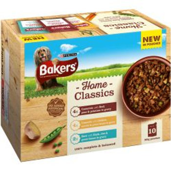 Bakers Pouch Home Classics Beef 10 Pack
