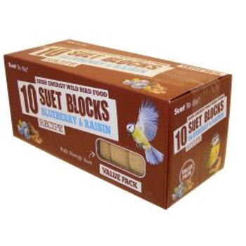 Suet To Go Blueberry & Raisin Block Value 10 Pack