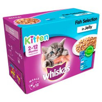 Whiskas Pouch in Jelly Fish Selection Kitten 12 Pack