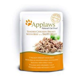 Applaws Cat Pouch Jelly Chicken & Beef
