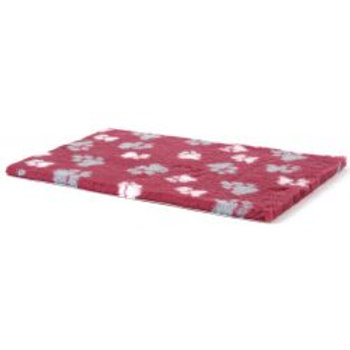 Animate Veterinary Bed Rubber Raspberry/Paw