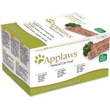 Applaws Cat Pate Chicken / Lamb / Salmon 7pk