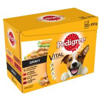 Pedigree Pouch Mixed Varieties in Gravy 12 Pack