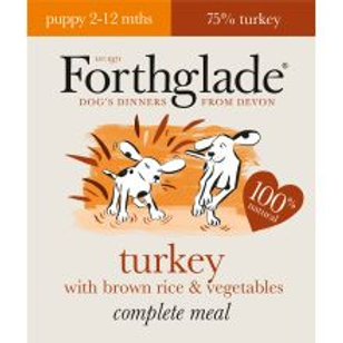 Forthglade Complete Meal Puppy Turkey with Brown Rice & Vegetables