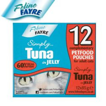 Feline Fayre Blue Pouch Tuna 12 Pack