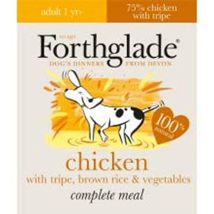 Forthglade Complete Meal Adult Chicken with Tripe, Brown Rice & Vegetables