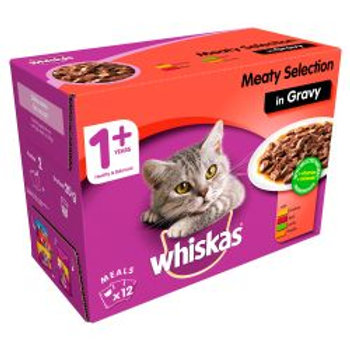 Whiskas Pouch Meat Selection in Gravy 12 Pack