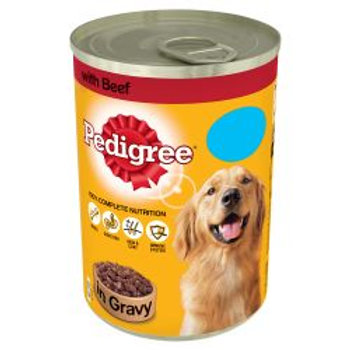 Pedigree Can Chunks in Gravy Beef PM 75p